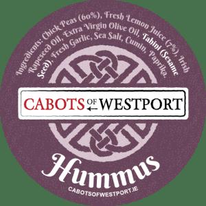 natural hummus pot label