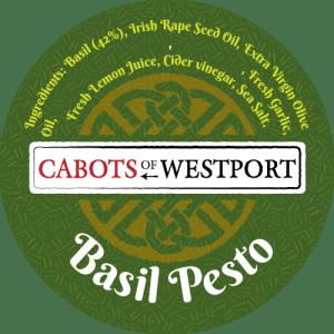 basil pesto pot label