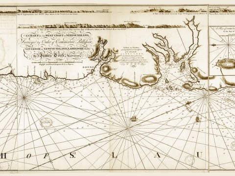 Cabox Geopark Commemorates Cook Chart