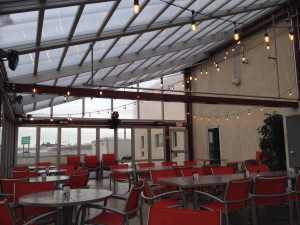 Sloped retractable cabrio structures roof