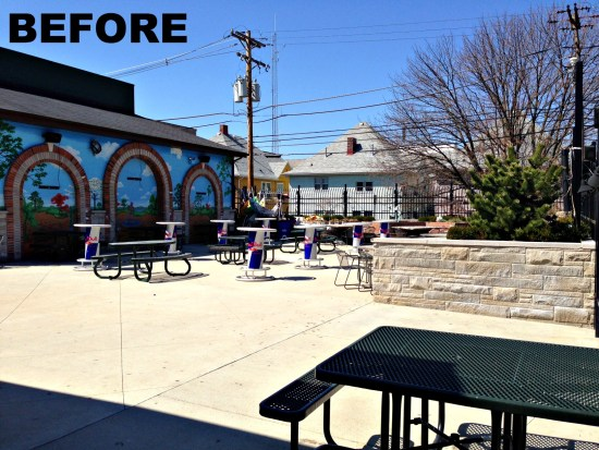 before photo of kilroys year round patio
