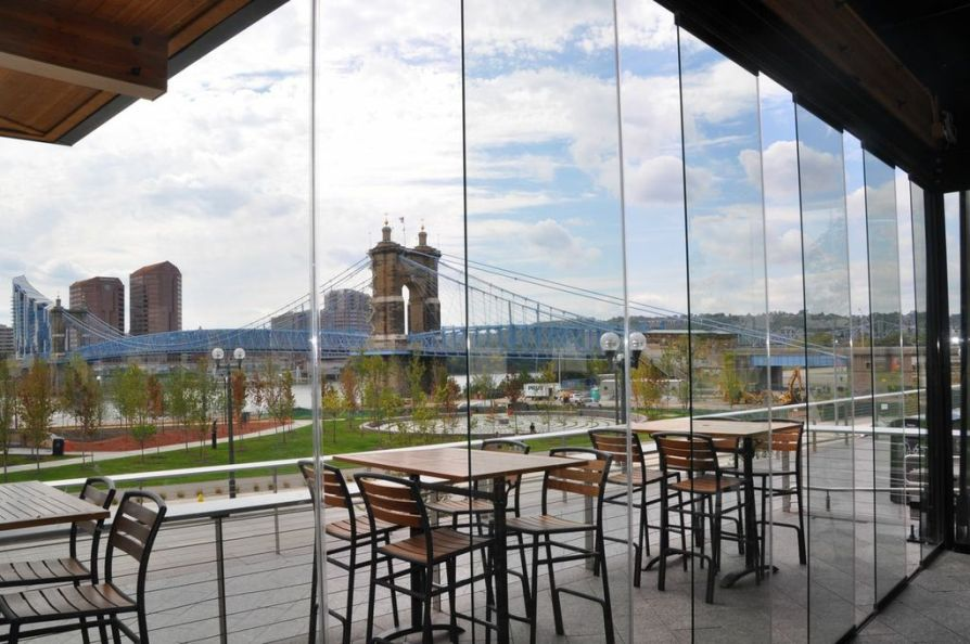 Moerlein Lager House opening walls with breeze gaps