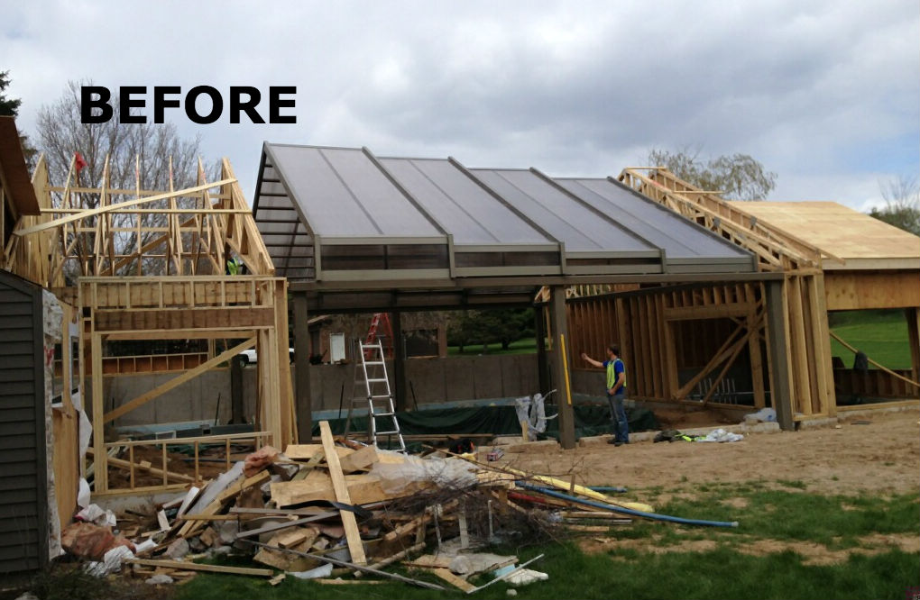 Cabrio LLC Before Residential Retractable Pool Enclosure for homeowners
