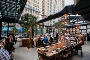 Restaurant patio cover