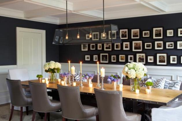 Dining Room Wall Decorating Ideas with Photo Gallery Wall - Cabritonyc.com