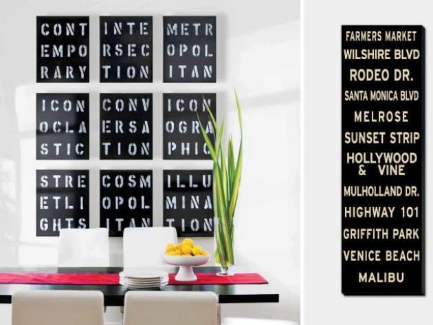 Dining Room Wall Decor Ideas: Typography Artwork - Cabritonyc.com