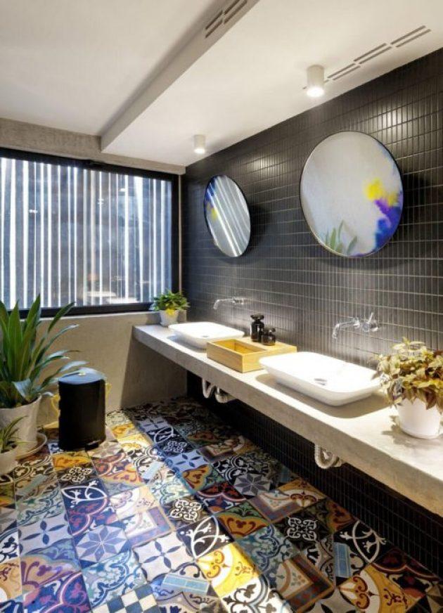 Bathroom Mirror Ideas - Two Round Mirrors 2 - Cabritonyc.com
