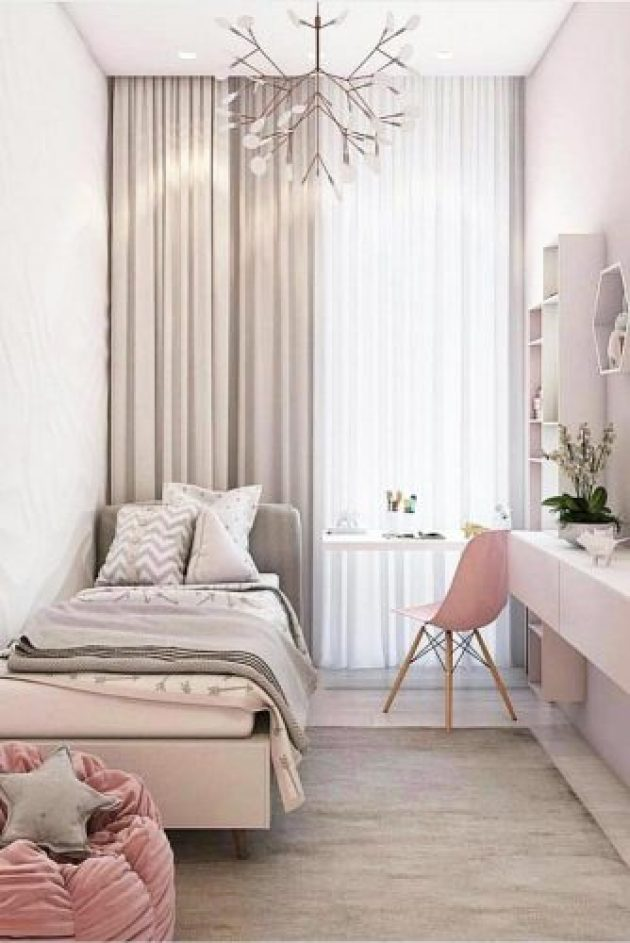 Cool Teen Girl Bedroom Ideas In Pastel Colors White - Cabritonyc.com