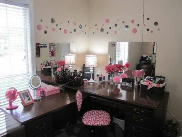 DIY Makeup Room Ideas Vanity Table - Cabritonyc.com