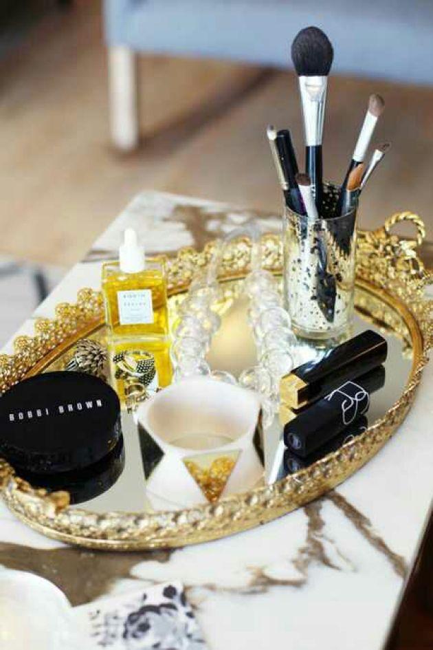 DIY Makeup Room Ideas Glamorous Trays - Cabritonyc.com
