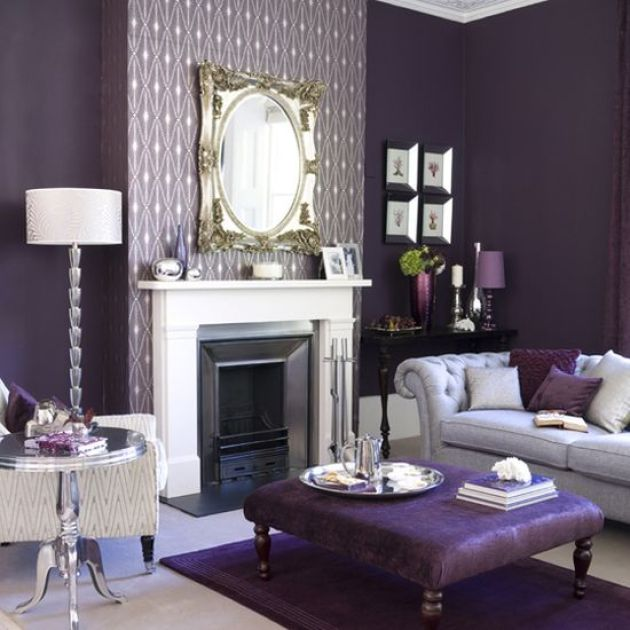 Accent Wall Ideas - Stunning In Purple - Cabritonyc.com