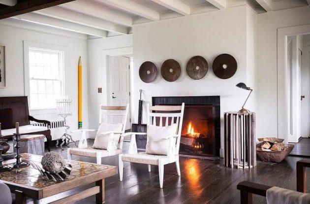 Rustic Chic Living Rooms Ideas - Soft Glow Driftwood - Cabritonyc.com