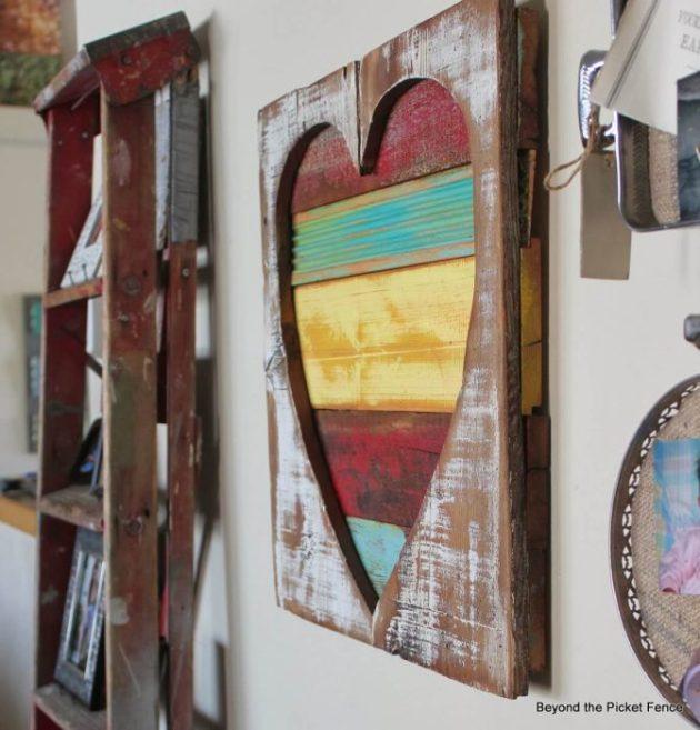 Rustic Wall Decor Ideas - Distressed Wooden Heart Wall Hanging - Cabritonyc.com