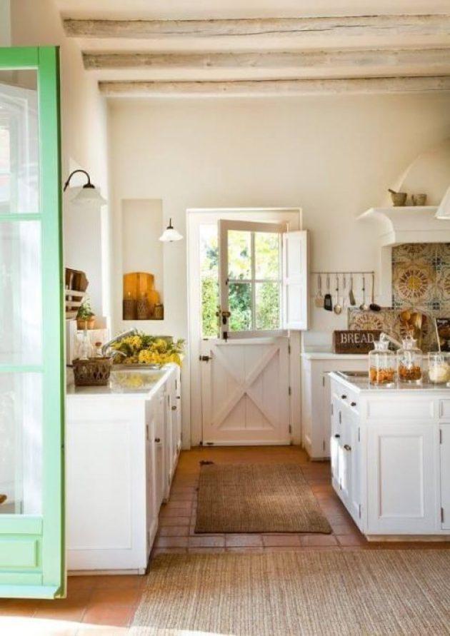 Farmhouse Kitchen Decor Design Ideas - Dutch Door Leading to Kitchen Garden - Cabritonyc.com
