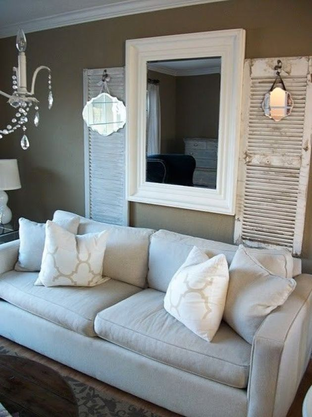 Rustic Chic Living Rooms Ideas - Soft Shutter Driftwood - Cabritonyc.com