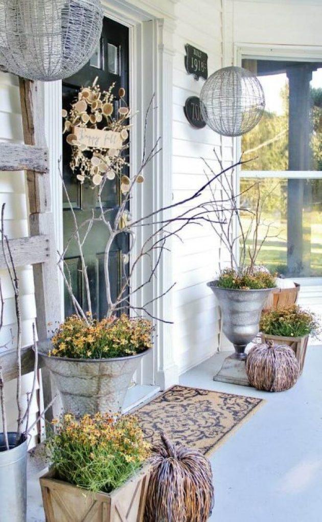Farmhouse Porch Decorating Ideas - Gossamer Fall Silver Porch Urns & Display Domes - Cabritonyc.com