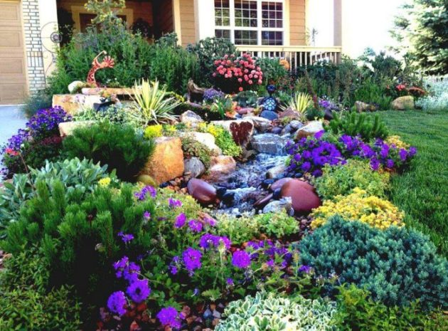Front Yard Landscaping Ideas - Water-Wise Western Water Feature - Cabritonyc.com