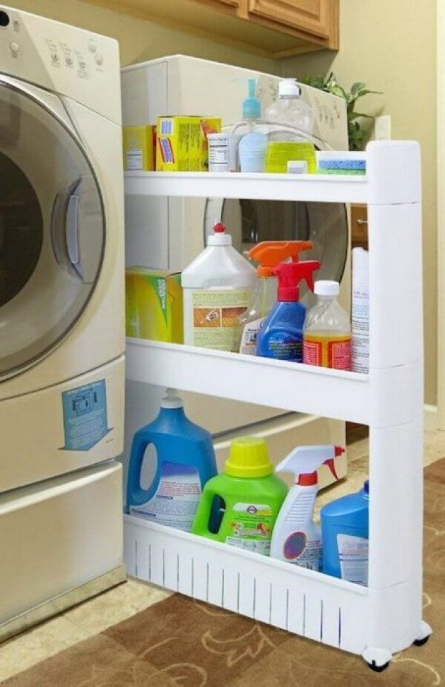 Storage Ideas for Small Spaces - Add Storage Between Your Washer and Dryer - Cabritonyc.com