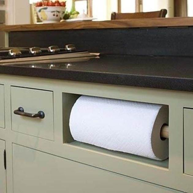 Storage Ideas for Small Spaces - Install Handy Fixtures in Your Island - Cabritonyc.com