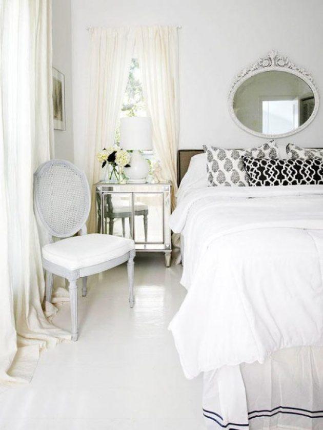 Romantic Master Bedroom Decor Ideas - White on White - Cabritonyc.com