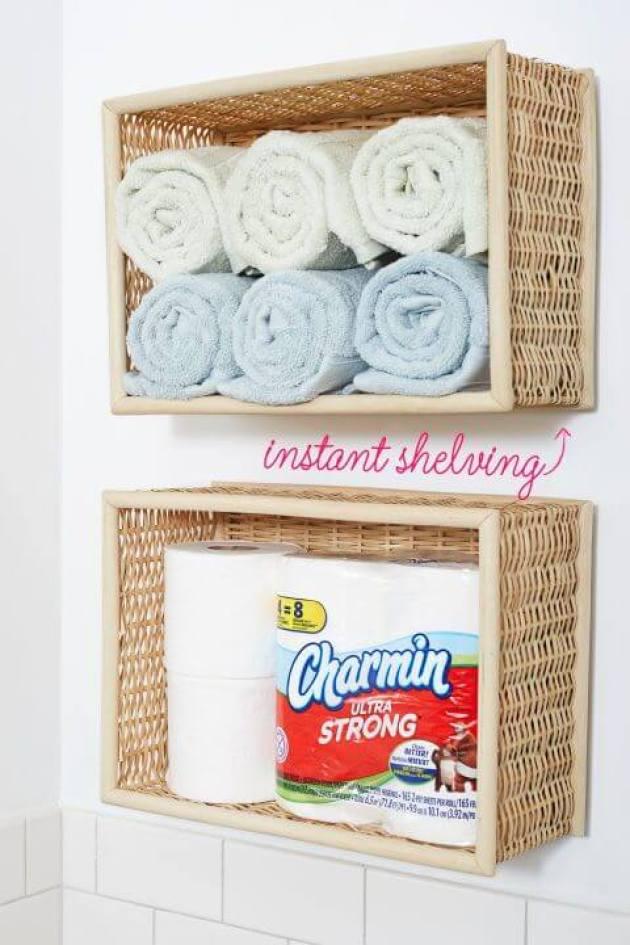 Bathroom Organizing Ideas 16 Wicker Baskets