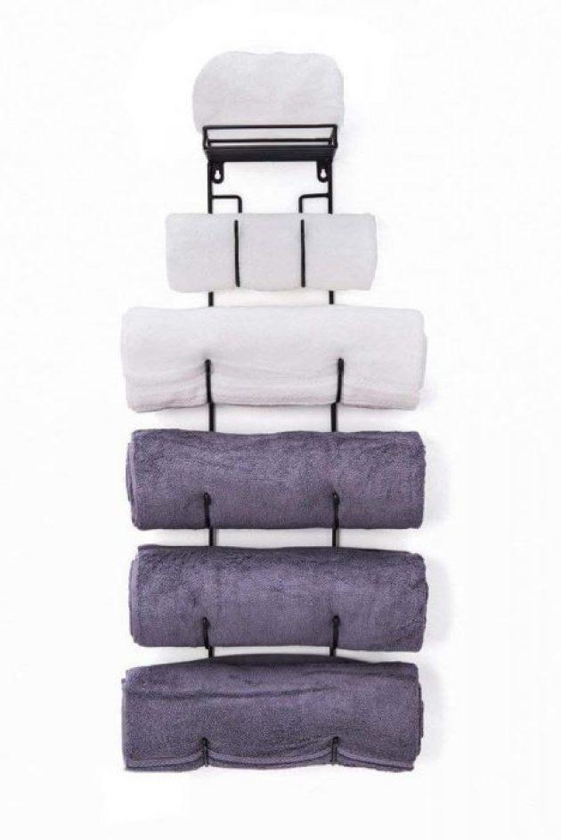 Bathroom Organizing Ideas 8 Rolled Up Towel Rack