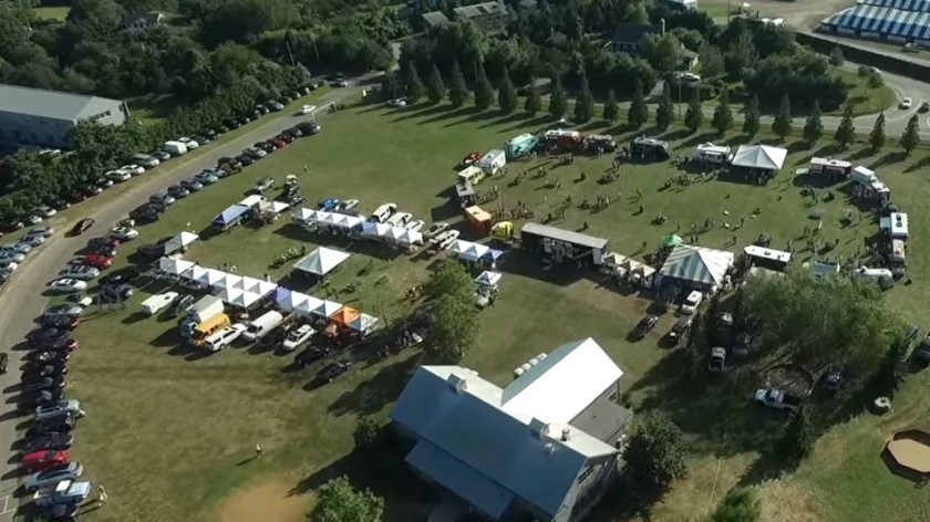 The Great Food Truck Derby from Above