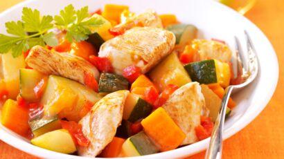 tajine de poulet aux courgettes et carottes