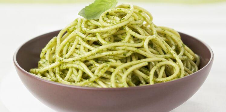 spaghetti au pesto special thermomix