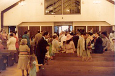 CAC's first service in new building, Easter Sunday, March 26, 1978