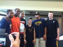 Zach-Miracle-64-Zach-with-WVU-Basketball-Team-at-HealthSouth-2012-07-19