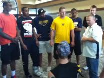 Zach-Miracle-69-Zach-with-WVU-Basketball-Team-at-HealthSouth-2012-07-19