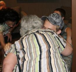 Zach-Miracle-75-Zach-hugging-Nana-at-HealthSouth-2012-07-19