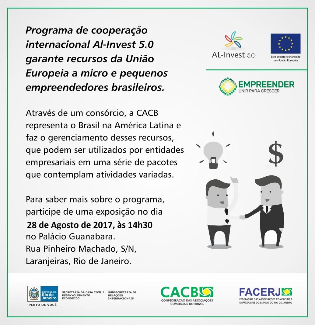 AL-Invest 5.0: cooperação internacional é tema de evento no Rio de Janeiro
