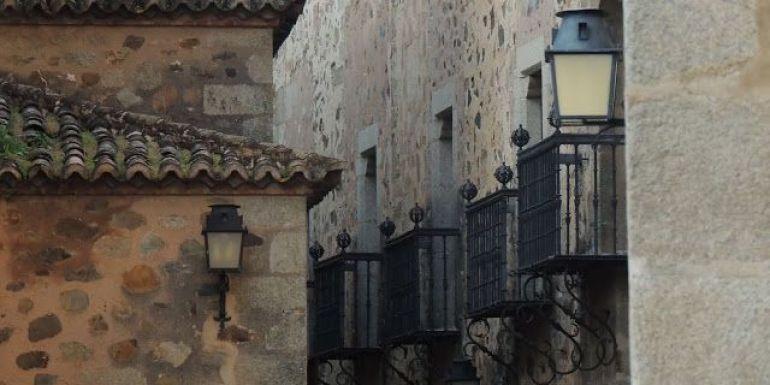Cáceres balcones del palacio de Carvajal