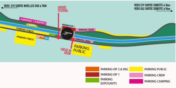 plan ronquieres festival 2014 parking