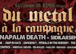 Le festival du Métal à la Campagne Rexpoede les 16 et 17 septembre 2016.