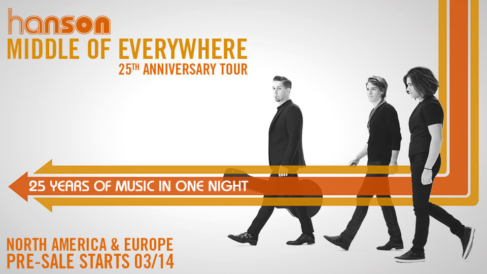 hanson concert 25 anniversary world tour la cigale paris
