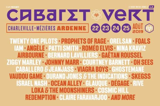 Cabaret Vert 2019 : 18 nouveaux artistes dévoilés !