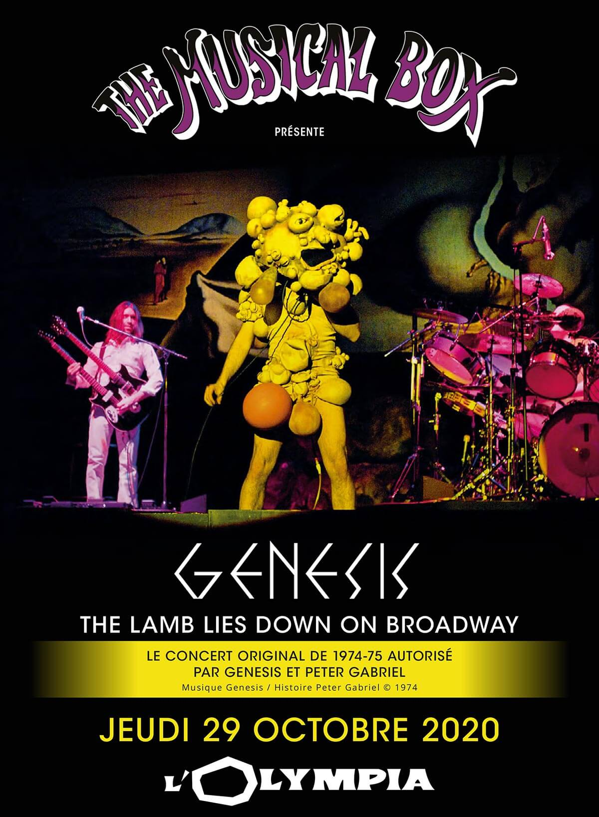 "The Musical Box présente Genesis ""The Lamb Lies Down On Broadway"" à L'Olympia le 29 octore 2020"