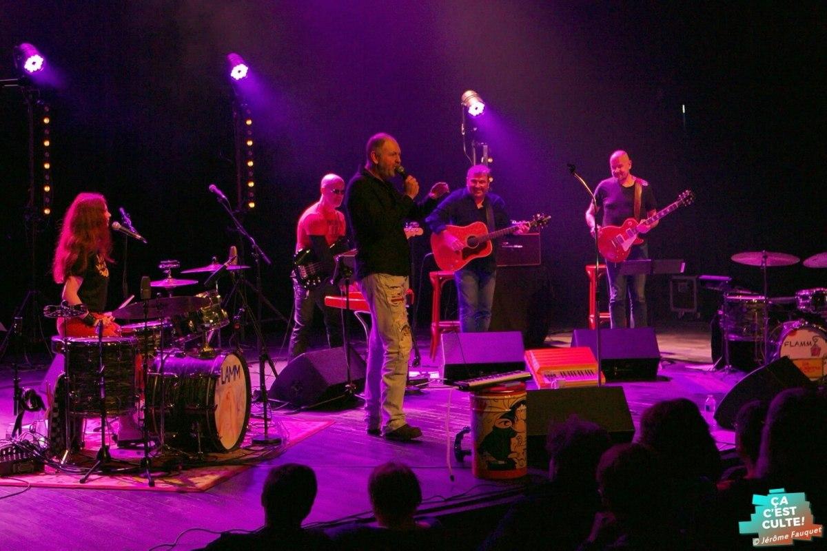 Flamm lors de son concert à Abbeville en hommage à Michel Delpech © Jérôme FAUQUET