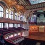 Barcelona Catalonia and Barcelona Palau de la Música Concerts July-December (Modernist Concert Hall UNESCO World Heritage) 6813P49