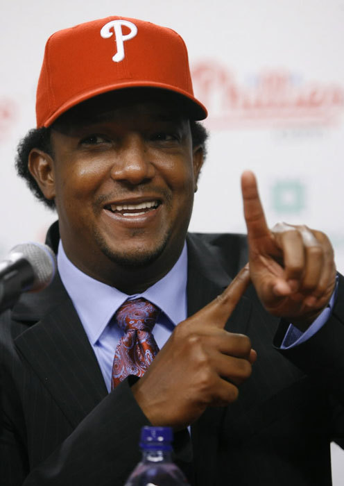 Pedro Martinez SP, Philadelphia Phillies 2008 statistics: W-L ERA IP K BB 5-6 5.61 109 87 44 He punched his Hall of Fame ticket in his seven years in Boston, winning two of his three Cy Youngs, making four of his eight All-Star appearances, leading the league in strikeouts three times, and winning his only World Series title. But Martinez, who signed a four-year deal with the Mets after the 2004 season, pitched just one full season in New York made only nine starts last season due to groin and shoulder problems. Although the Dominican Republic fell during the first round of the World Baseball Classic, Martinez made his case to MLB clubs after pitching six shutout innings in two games, allowing only one hit. Pedro signed a one-year deal with the Phillies and was introduced to the media on July 15. He will launch his Phillies career on the 15-day disabled list.