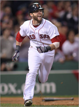 With the Sox trailing 7-0, The rally got rolling when second baseman Dustin Pedroia hit a two-strike, two-out single in the seventh inning. The hit drove in Jed Lowrie with Boston's first run of the game.