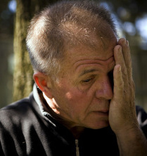 DEADLY DIVE Ron Long wiped away tears as he recalled his struggle to save his friend, Richard Baer, an abalone diver.