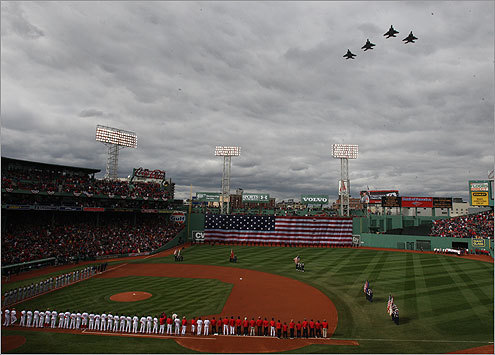 Boston Red Sox Opening Day Pregame Ceremonies At Fenway