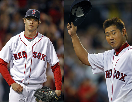 2009 statistics: Clay Buchholz 16 starts, 7 wins, 92 IP Daisuke Matsuzaka 12 starts, 4 wins, 59.1 IP Both Buchholz and Matsuzaka had their ups and downs in 2009. Both pitchers might be top three starters on any other team, but it's probable that Matsuzaka will be the fourth starter, and Buchholz the fifth. Both have a high upside, but both also have a lot to prove.