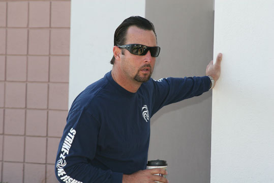 Tim Wakefield was one of several pitchers to arrive early at the Red Sox player development complex in Fort Myers.