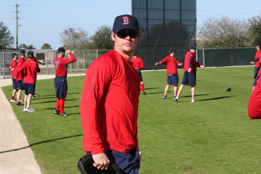 No doubt about it. Buchholz is bulkier this spring after packing some pounds onto his formerly wiry frame.