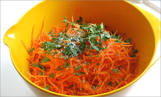 Recipe For Grated Carrot Salad The Boston Globe